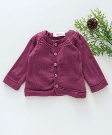 Little Angels Full Sleeves Sweater - Purple