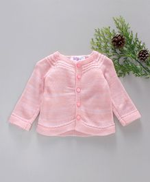 Little Angels Full Sleeves Sweater - Pink