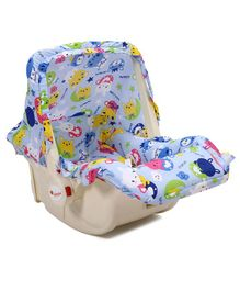 Infanto Baby Love Carry Cot Cum Rocker Animal Print - Blue