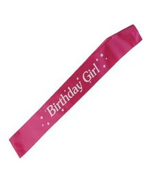 Shopperskart Birthday Girl Sash - Pink
