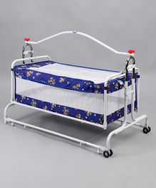 New Natraj Compact Cradle Cum Bassinet Teddy Print - Blue