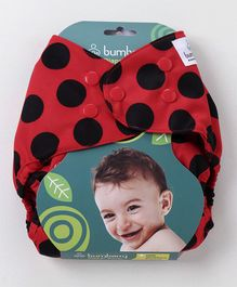 Bumberry Diaper Cover Ladybug With 1 Free Wet Insert - Red & Black