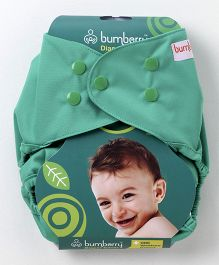 Bumberry Diaper Cover Baby Green With 1 Free Wet Insert