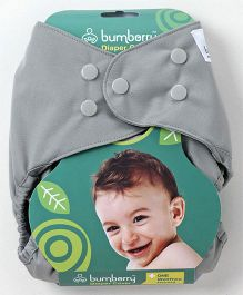 Bumberry Diaper Cover Grey With 1 Free Wet Insert