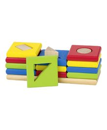 Goki Wooden Shape & Colour Sort Game Multi Colour - 12 Pieces