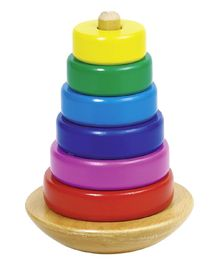 Goki Stacking Tower With Rings - Multi Colour