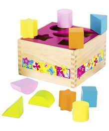Goki Wooden Shape Sorter Multi Colour - 10 Pieces