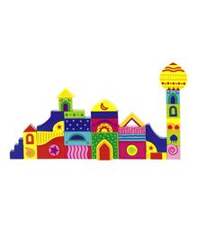Goki Wooden Mosaic Puzzle 1001 Nights Multi Colour - 42 Pieces