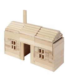 Goki Wooden Building Bricks - Beige
