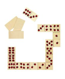 Goki Wooden Ladybird Domino Game - 28 Pieces