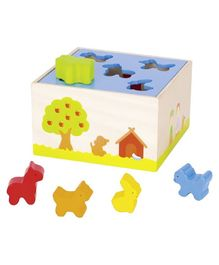 Goki Farm Animal Sorting Box - Multicolour
