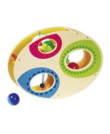 Goki Wooden Marble Run Rock & Roll - Beige & Multi Colour