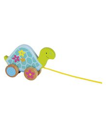 Goki Susibelle Wooden Pull Along Toy Turtle - Multicolour