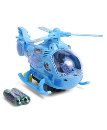 Dr. Toy Helicopter With Light - Blue