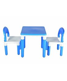 Toyshine 2 in 1 Building Blocks Cum Table & Chair Set - Blue