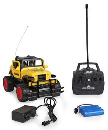 Dr.Toy Remote Control Car With Charger & Light - Black & Yellow