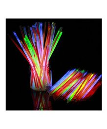 Skylofts Light Up Glow Toy Sticks Multicolour - Pack of 100