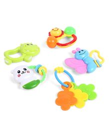 Dr. Toy Rattle Set Pack of 5 (Color May Vary)