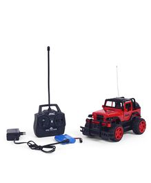 Dr.Toy Remote Control Car With Charger & Light - Black & Red