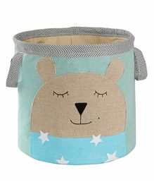 My Gift Booth Linen Storage Bag Bear Face Print - Blue