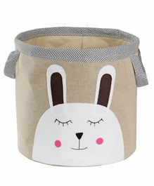 My Gift Booth Linen Storage Bag Bunny Face Print - Beige