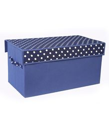 My Gift Booth Toy Sorter Storage Box Polka Print - Blue