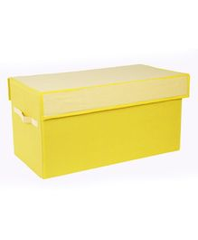 My Gift Booth Toy Sorter Storage Box Checks Print - Yellow