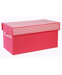 My Gift Booth Toy Sorter Storage Box Checks Print - Pink