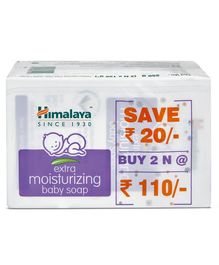 Himalaya Extra Moisturizing Baby Soap Pack of 2 - 125 grams Each