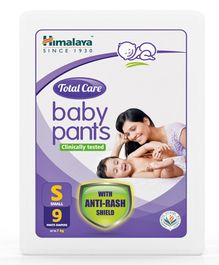 Himalaya Herbal Total Care Baby Pants Style Diapers Small - 9 Pieces