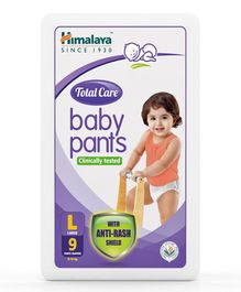 Himalaya Herbal Total Care Baby Pants Style Diapers Large - 9 Pieces