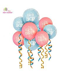 Party Propz Baby Shower Latex Balloons Pack of 25 - Blue Pink