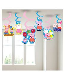 Party Propz Peppa Pig Hanging Swirls Multicolour - 6 Pieces