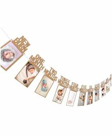 Party Propz Baby Photo Banner - Brown