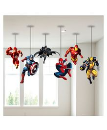 Party Propz Superheroes Ceiling Decoration Multicolour - Pack of 6