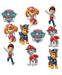 Party Propz Paw Patrol Cut Out Stickers Multicolour - 10 Pieces