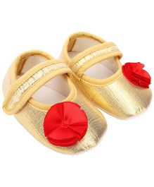 Daizy Shimmery Booties - Golden