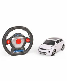 Remote Control Gravity Sensor Car With Steering Wheel - White