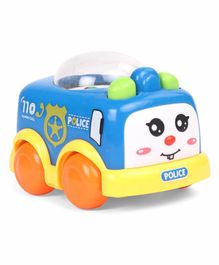 Wind Up Police Car With Popping Beads - Red