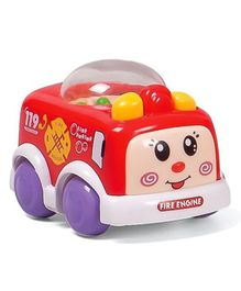 Wind Up Toy Car With Popping Beads - Red