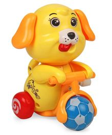 Doggy Shaped Wind Up Toy - Yellow