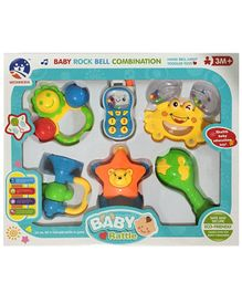 Baby Rattle Set Pack of 6 (Color May Vary)