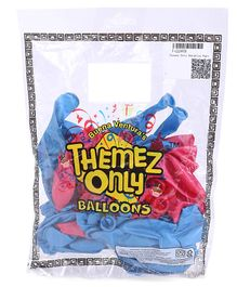 Themez Only Metallic Party Balloons Pack of 50 - Pink Light Blue