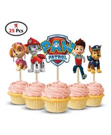 Party Propz Paw Patrol Cup Cake Topper Pack of 25 - Multi Colour