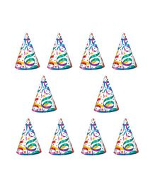 Party Propz Birthday Caps Multicolor - Pack of 10