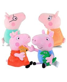 Party Propz Peppa Pig Plush Toy Pink - Pack of 4