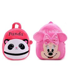 Frantic Velvet Panda & Minnie Bags Pack of 2 - 14 Inches
