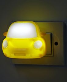 Car Shape LED Night Lamp - Yellow