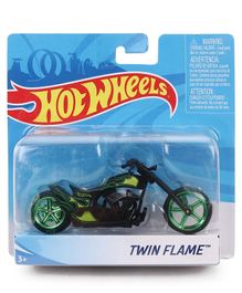 Hot Wheels Twin Flame Bike - Green & Black