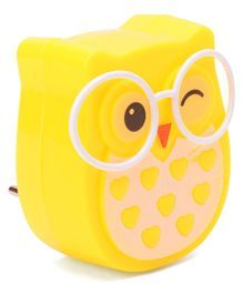 Owl Shape LED Night Lamp - Yellow